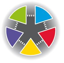 Logo zonder losse taartpuntjes